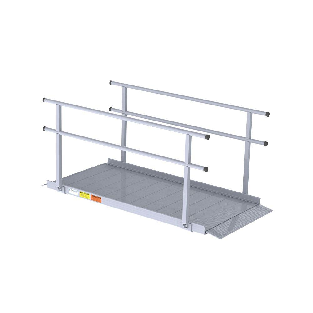 EZ-ACCESS 6 ft. Pathway Ramp Classic Series with Handrails