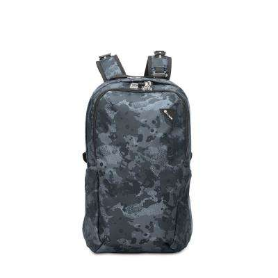 Vibe 19 in. Grey Camo Backpack with Laptop Compartment