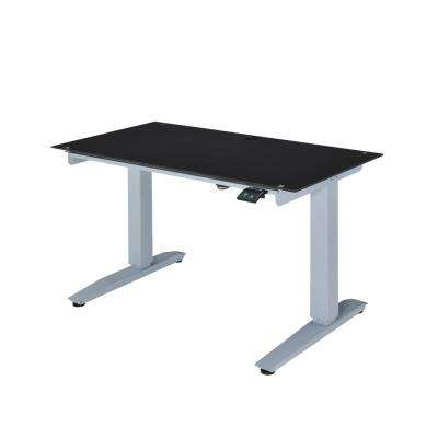 Black Glass Bliss Power Lift Writing Desk