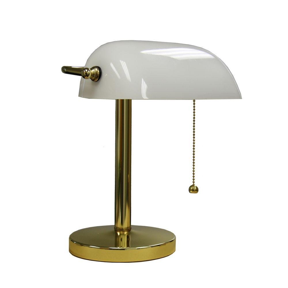Gold Bankers Lamp