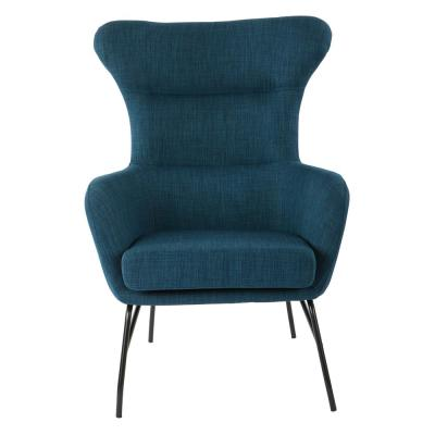 Enzo Azure Chair with Black Legs
