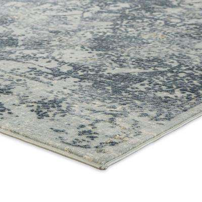 Cirque Blue 2 ft. 6 in. x 8 ft. Abstract Runner Rug