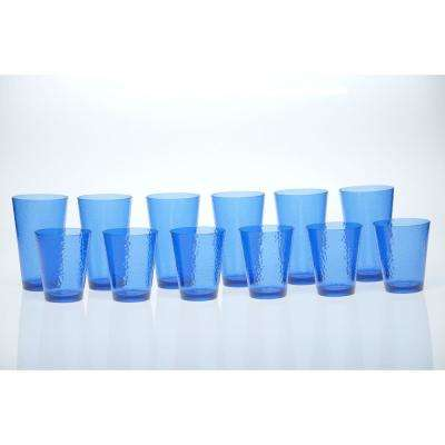 12-Piece Cobalt Blue Drinkware Set