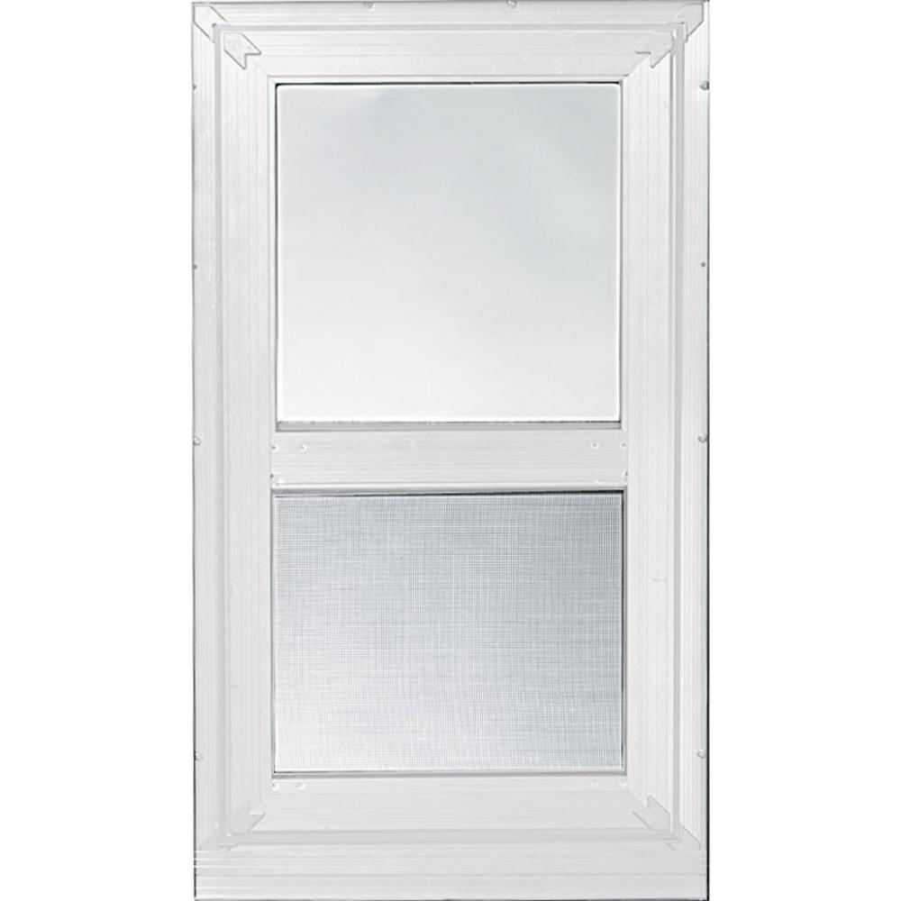32 in. x 63 in. 2-Track Double Hung Storm Aluminum Window