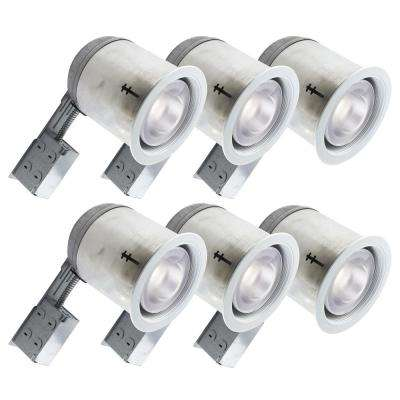 600 Series 7 in. White Incandescent Recessed Baffle Light Fixture Kit
