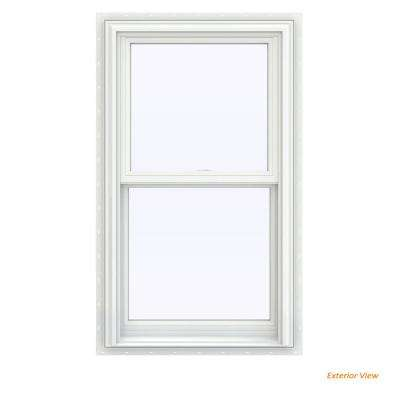 23.5 in. x 40.5 in. V-2500 Series White Vinyl Double Hung Window with BetterVue Mesh Screen