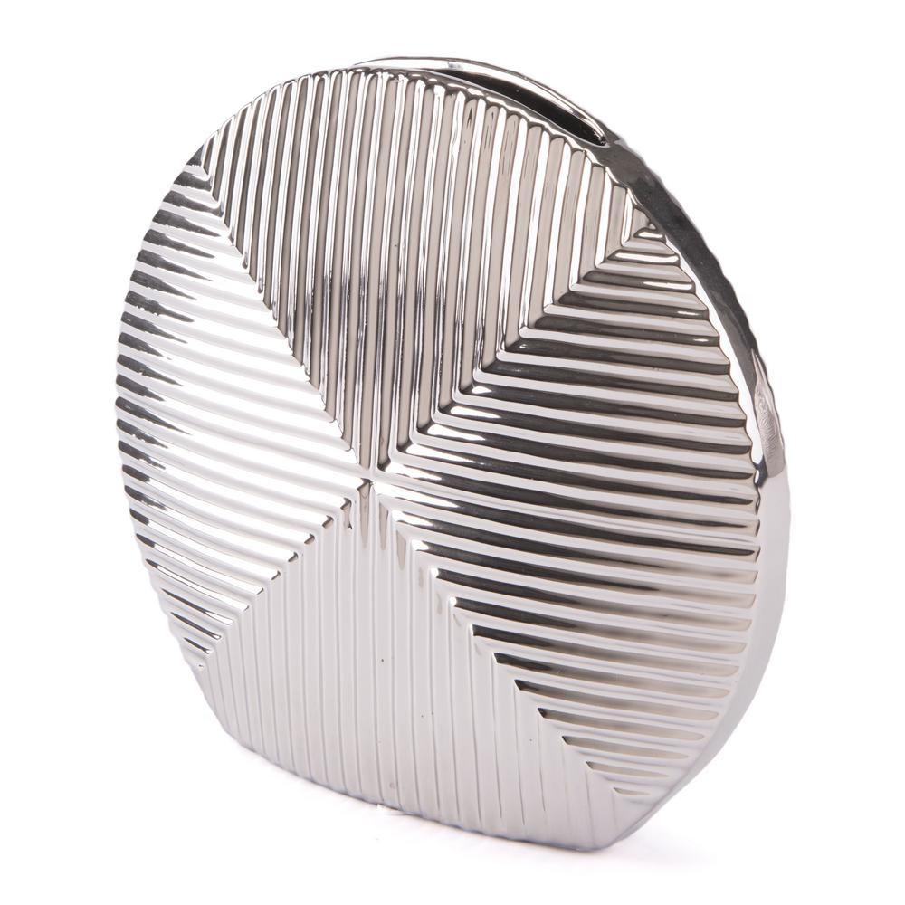 Silver Round Small Decorative Vase