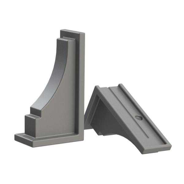Fairfield Graphite Grey Resin Decorative Brackets (2-Pack)