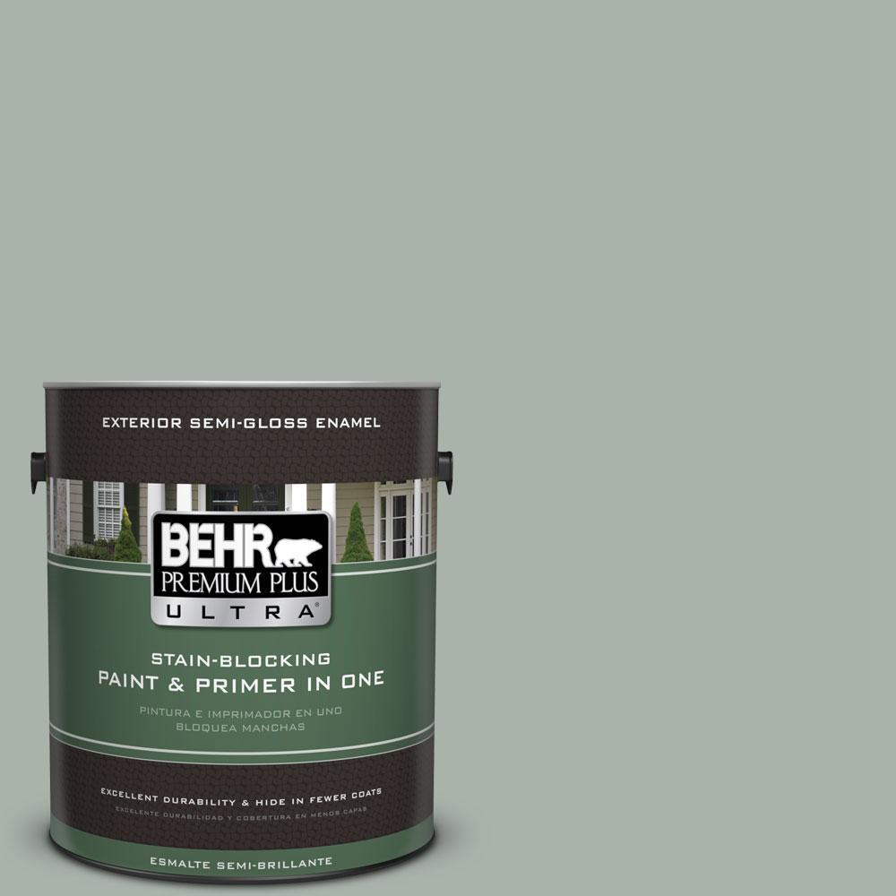 BEHR Premium Plus Ultra 1-gal. #BXC-38 Alpine Air Semi-Gloss Enamel Exterior Paint