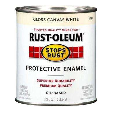1 qt. Protective Enamel Gloss Canvas White Interior/Exterior Paint (2-Pack)