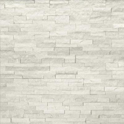 Arctic White Mini Ledger Panel 4.5 in. x 16 in. Natural Marble Wall Tile (5 sq. ft. /case)
