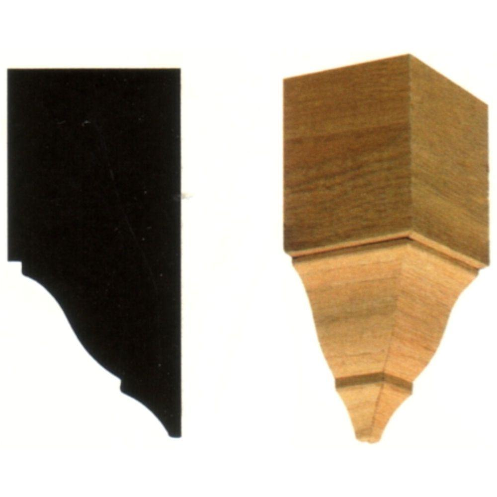 House of Fara 2-3/4 in. x 2-3/4 in. x 6 in. Hardwood Inside Crown Corner Block Moulding