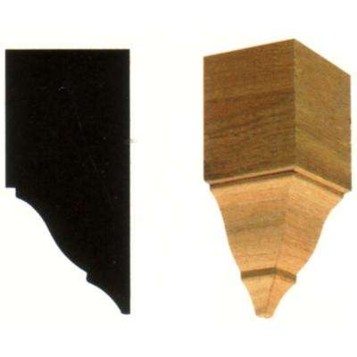 2-3/4 in. x 2-3/4 in. x 6 in. Hardwood Inside Crown Corner Block Moulding