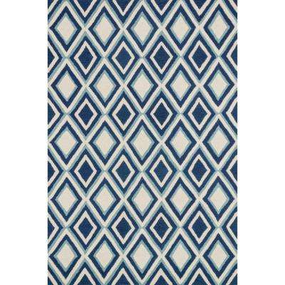 Weston Lifestyle Collection Ivory/Blue 3 ft. 6 in. x 5 ft. 6 in. Area Rug