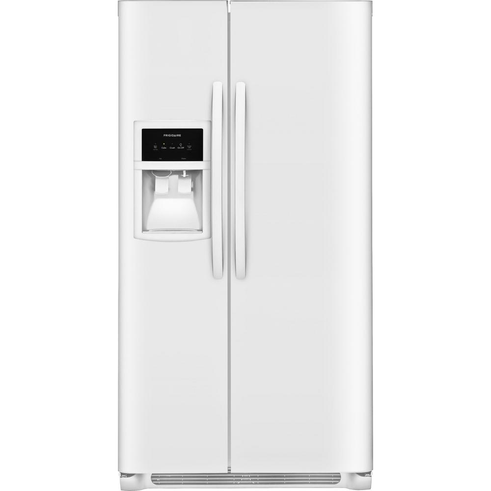 25.0 cu. ft. Side by Side Refrigerator in White