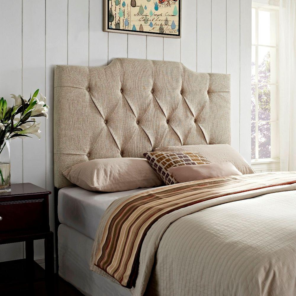 Samuel Lawrence Furniture Tan King California Headboard Ds 8626 270 The Home Depot