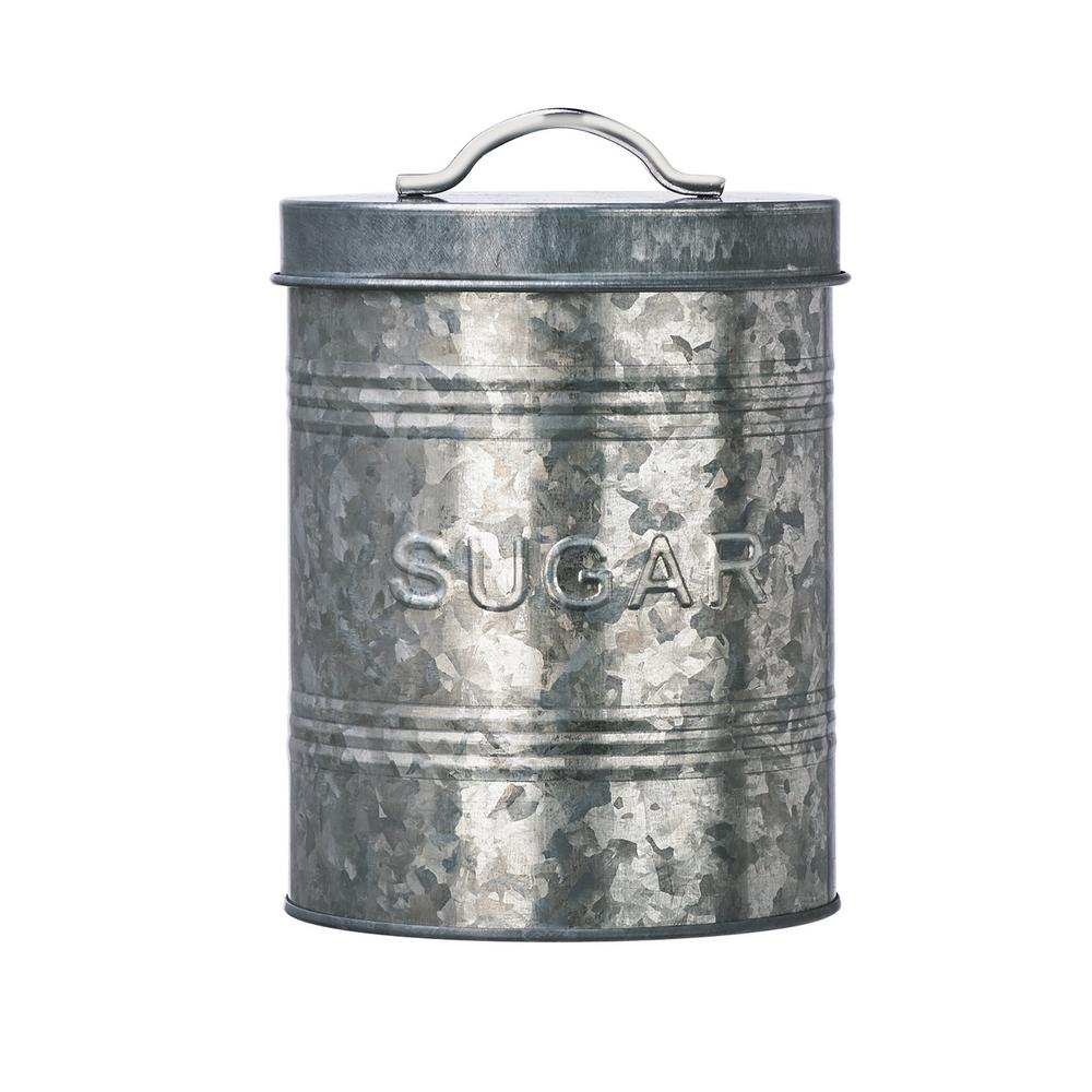 Amici Home Rustic Kitchen Metal Sugar Storage Canister