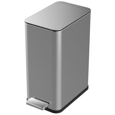 2.6 Gal. Stainless Steel Slim Step On Trashcan