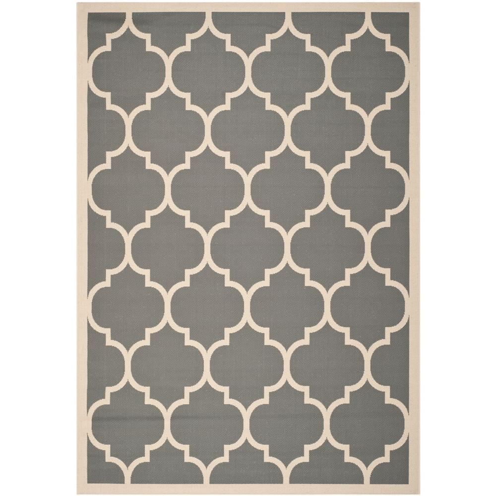 Safavieh Courtyard Anthracite Beige 6 Ft 7 In X 9 Ft 6