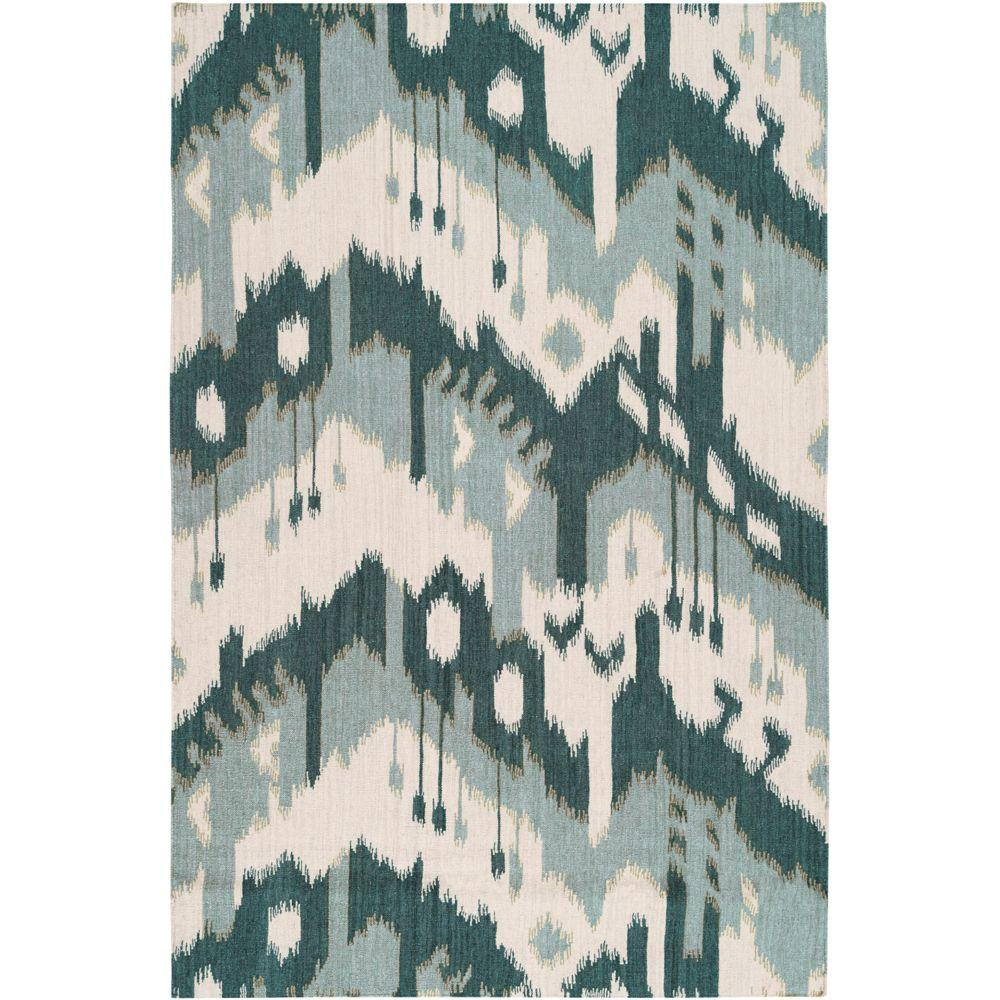 Artistic Weavers Bururi Peacock Green 3 ft. 6 in. x 5 ft. 6 in. Flatweave Area Rug