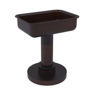 Vanity Top Soap Dish with Dotted Accents in Venetian Bronze