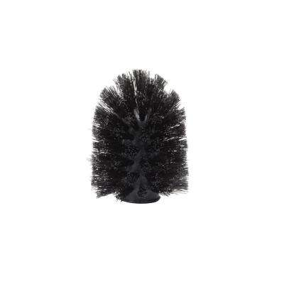 Plastic Toilet Brush Replacement in Black