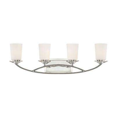 Palatial 4-Light Chrome Interior Incandescent Bath Vanity Light