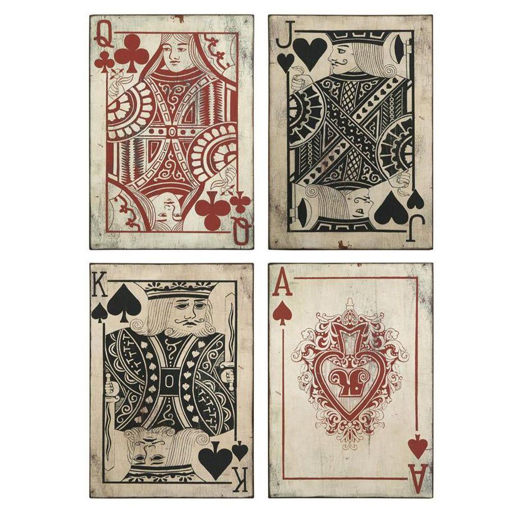 Leonato 18 in. H x 12.75 in. W Iron Playing Card