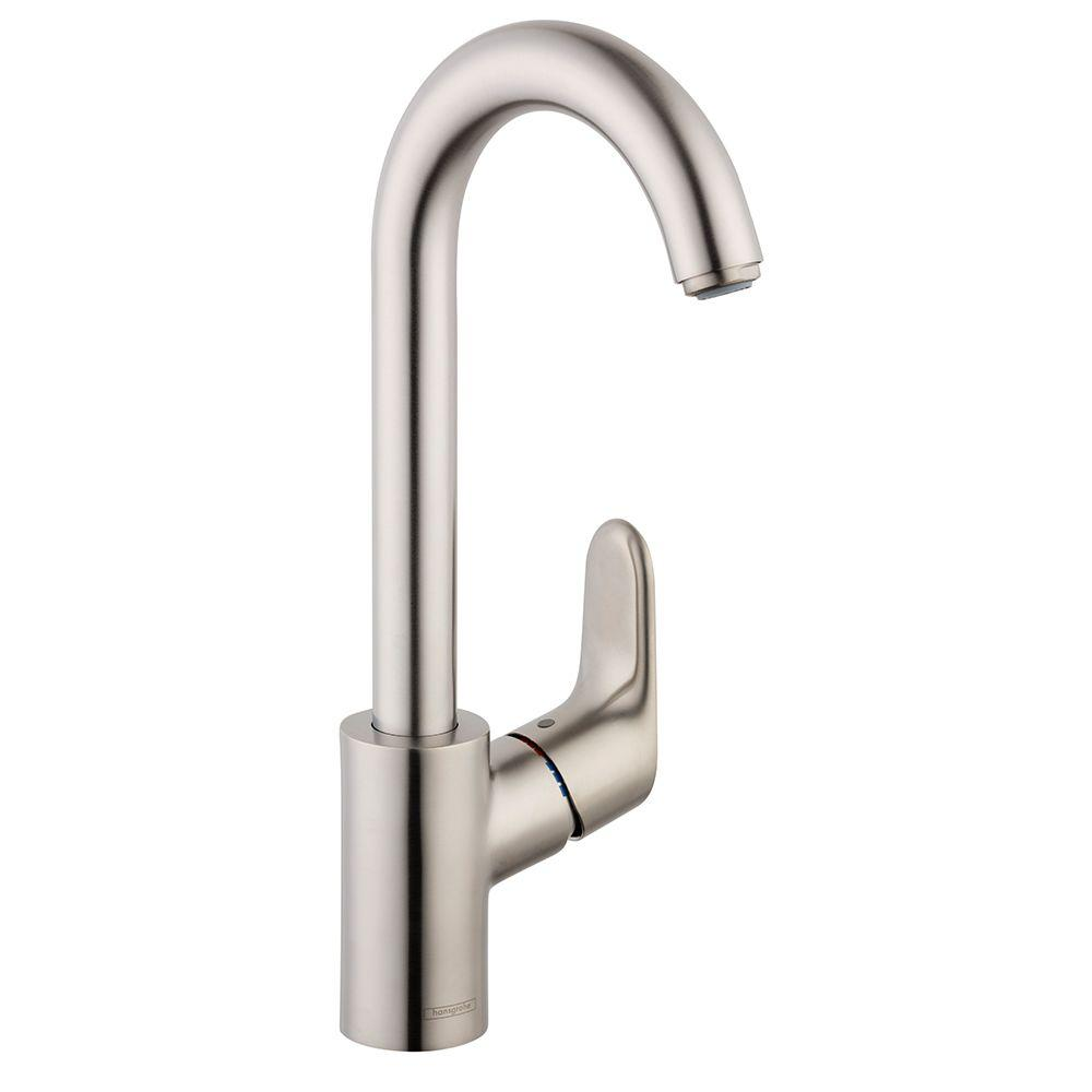 Hansgrohe Focus 1-Handle Bar Faucet in Steel Optik-04507801 - The ...