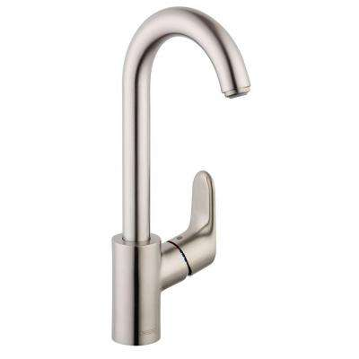 Focus 1-Handle Bar Faucet in Steel Optik