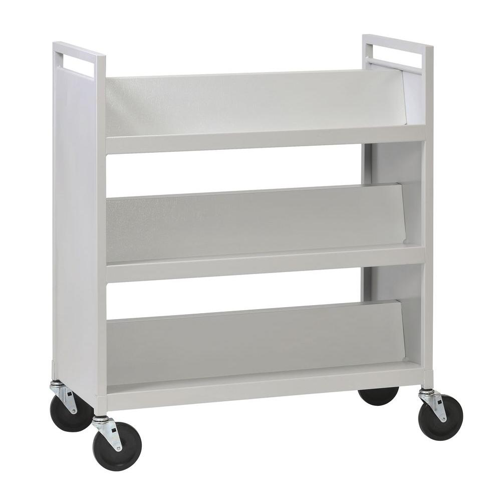 Buddy Products Platinum 37 In 3 Shelf Steel Library Book