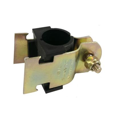 1 in. Yellow Zinc Coated Cushion Strut Clamp with Insulator