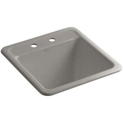 Park Falls 22 in. x 21 in. Cast Iron Drop-In/Undermount Utility Sink in Cashmere