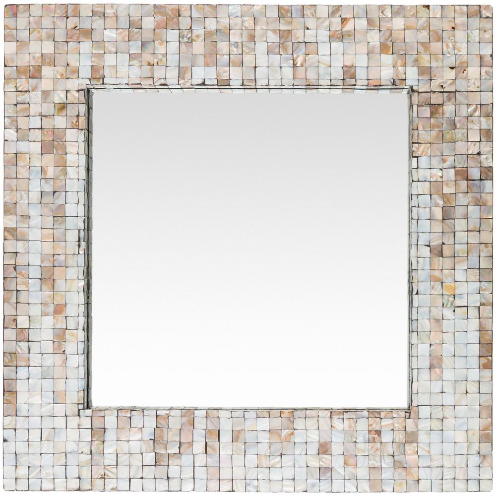 Brie 23.6 in. x 23.6 in. MDF Framed Mirror