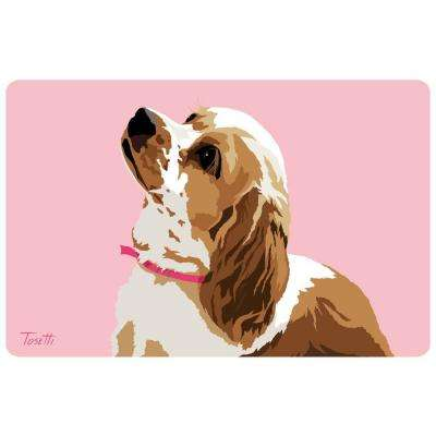 Printed Cocker Spaniel 37 17.5 in. x 26.5 in. Mat