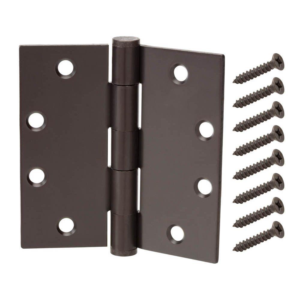 4-1/2 in. x 4-1/2 in. Oil-Rubbed Bronze Commercial Grade Door Hinge