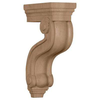 3-7/8 in. x 8 in. x 13 in. Unfinished Wood Mahogany Los Angeles Hollow Back Corbel