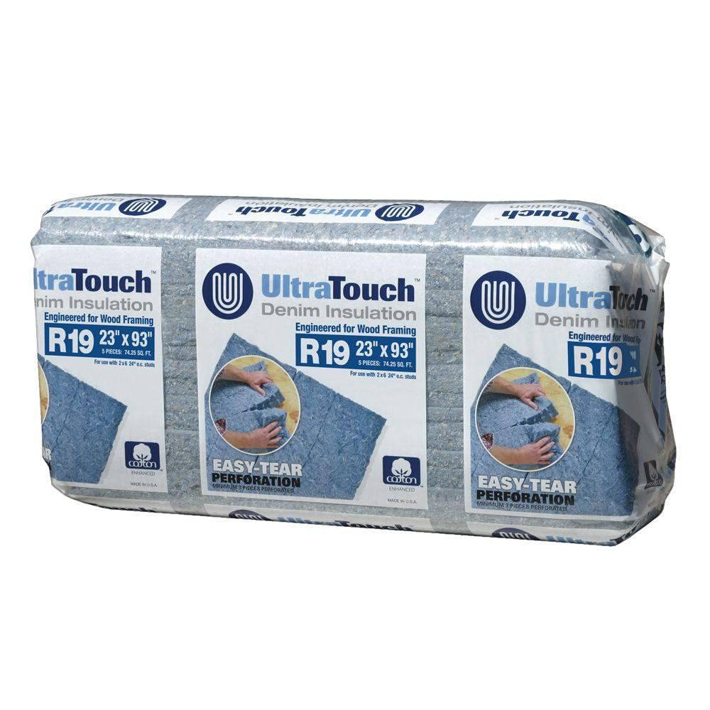 UltraTouch R-19 Denim Insulation Batts 23 in. x 93 in. (8-Bags)