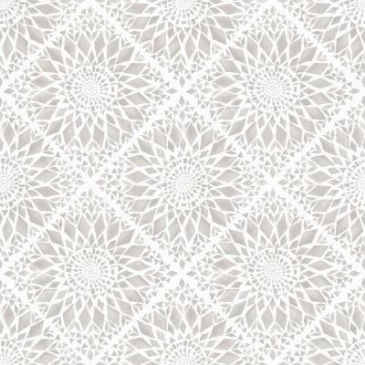 56.4 sq. ft. Maureen Cream Medallion Strippable Wallpaper