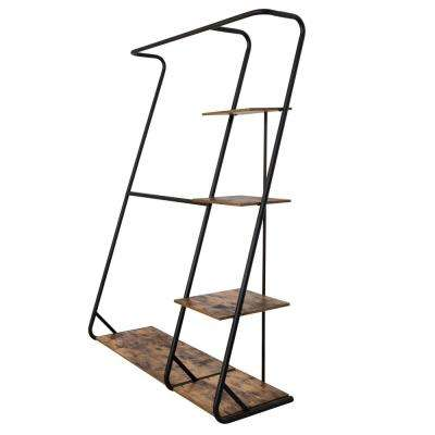 Z-Frame 17.32 in. x 68 in. Rustic Finish Garment Rack