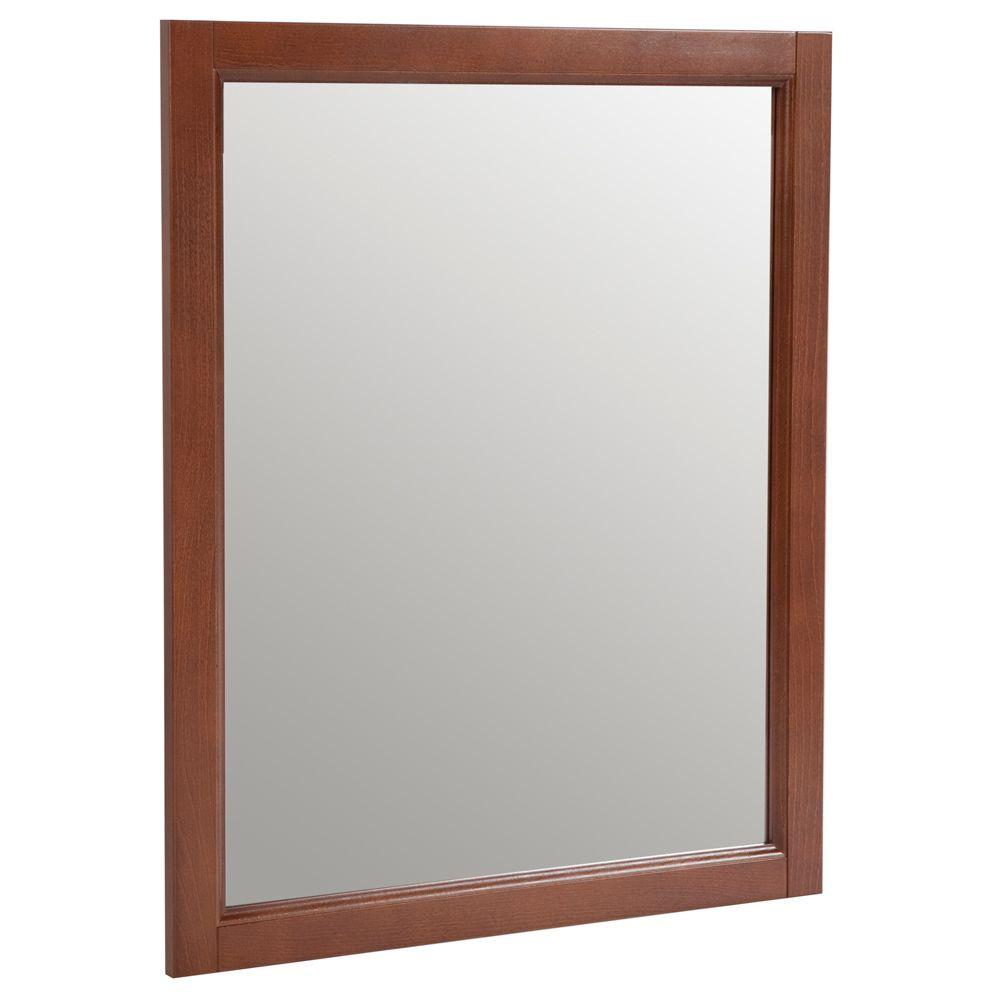 Home Decorators Collection Catalina 26 in. Wall Mirror in Amber