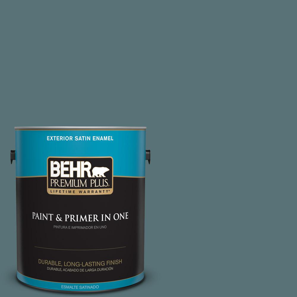 1 gal. #PPU13-02 Juniper Berries Satin Enamel Exterior Paint