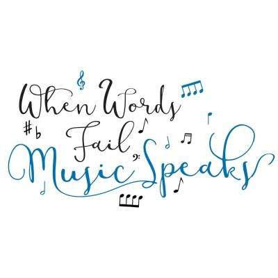 Black Music Speaks Decal Wall Quote