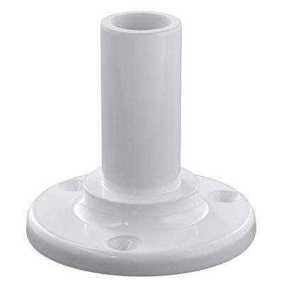 White ADA Aluminum Straight Hand Rail Wall Mount