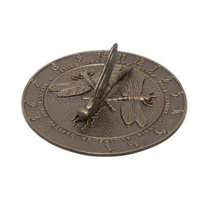 Weathered Bronze Dragonfly Sundial