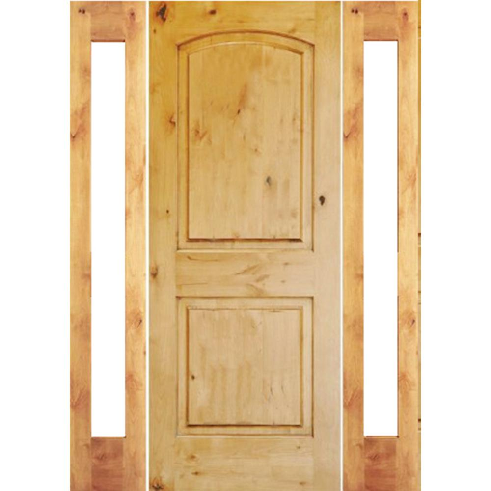 Krosswood Doors 30 In X 80 In Rustic Knotty Alder 2: Krosswood Doors 58 In. X 80 In. Rustic Knotty Alder Arch