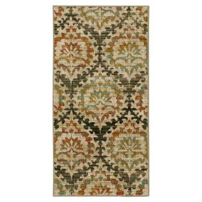 Sondra Gunmetal 2 ft. x 4 ft. Scatter Area Rug