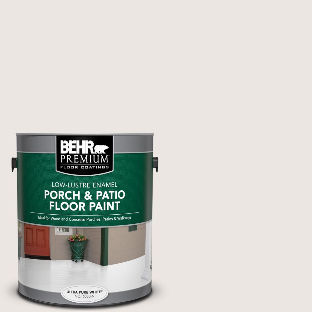 BEHR Premium 1 gal. #N330-1 Milk Paint Low-Lustre Enamel Interior/Exterior Porch and Patio Floor Paint