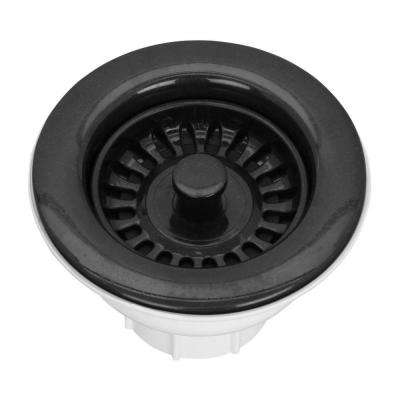 3-1/2 in. Basket Strainer Drain in Black
