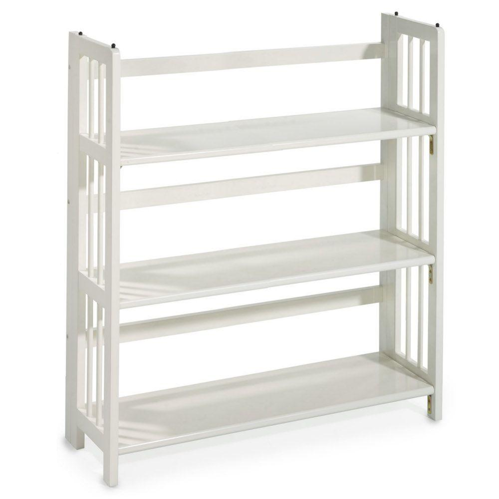Hampton bay 5 shelf standard bookcase in white for Home decorators bookcase